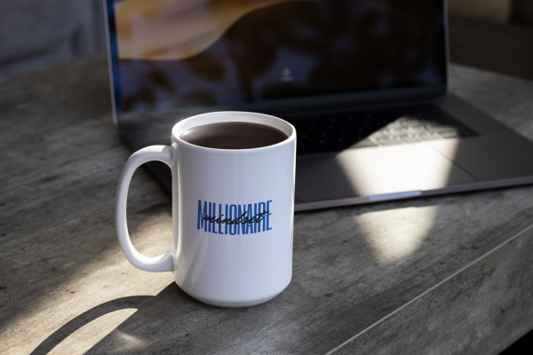 Millionaire Mindset Mug by CP Designs Unlimited