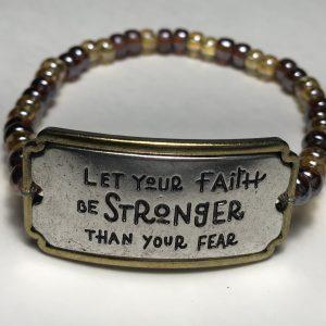 Men's Stronger Faith Bracelet
