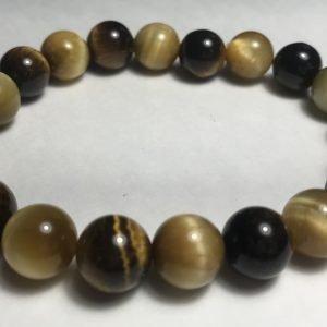 Men's Brown & Golden Tiger's Eye Bracelet