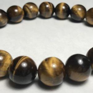 Men's Brown & Purple Accent Tiger's Eye Bracelet