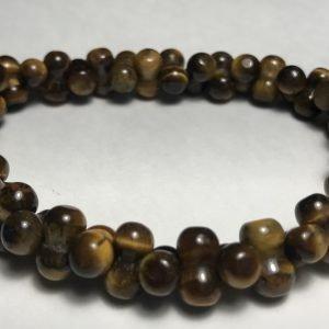 Men's Brown Dog Bone Tiger's Eye Bracelet