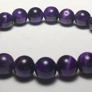 Men's Purple Tiger's Eye Bracelet